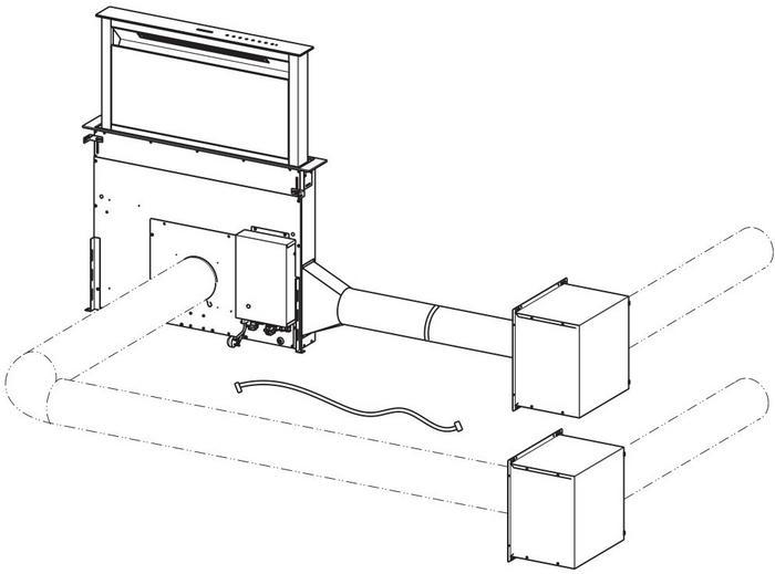 Okapy typu Downdraft