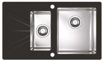 ALVEUS KARAT 20 zlewozmywak szklany czarny prawy 1103659