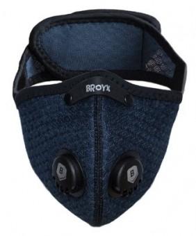 BROYX Maska anty-smogowa,alergiczna SPORT ALFA NAVY BLUE rozm M **ATEST COVID**