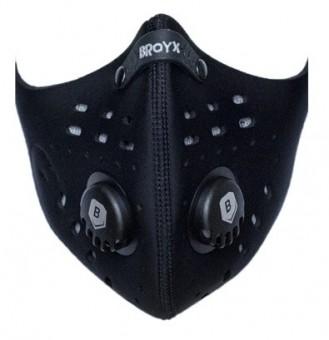 BROYX Maska anty-smogowa,alergiczna SPORT DELTA BLACK rozm M **ATEST COVID**