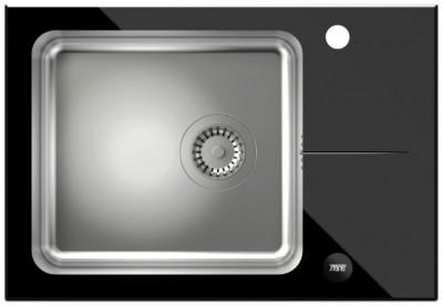 STEINER Zlewozmywak HUGH 116 stal/czarne szkło ST3564SC1BS** - Użyj Kodu