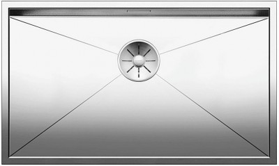 BLANCO ZEROX 700-U Stal polerowana, InFino 521593