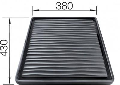 BLANCO Ociekacz z tworzywa czarny do komór podwieszanych, 432x382 230734
