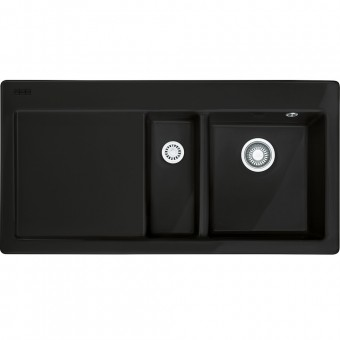 FRANKE Zlew MTK 651-100 Czarny mat, prawy 124.0442.534 (S) - Użyj Kodu